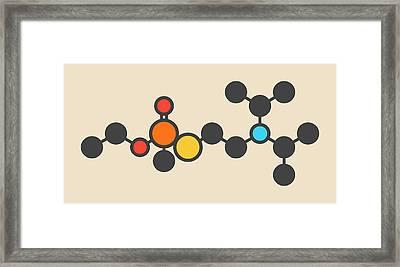 Vx Nerve Agent Molecule Framed Print by Molekuul