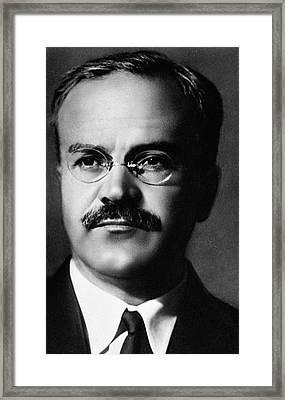 Vyacheslav Molotov, Soviet Politician Framed Print by Science Photo Library