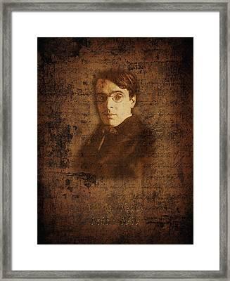 W. B. Yeats Framed Print