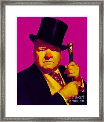 W C Fields 20130217 Framed Print by Wingsdomain Art and Photography