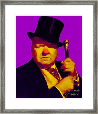 W C Fields 20130217m30 Framed Print by Wingsdomain Art and Photography