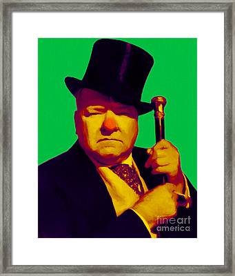 W C Fields 20130217p180 Framed Print by Wingsdomain Art and Photography