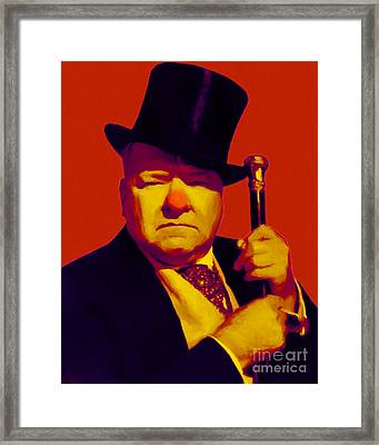 W C Fields 20130217p50 Framed Print by Wingsdomain Art and Photography