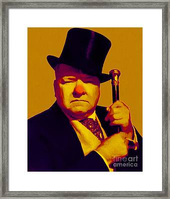 W C Fields 20130217p80 Framed Print by Wingsdomain Art and Photography