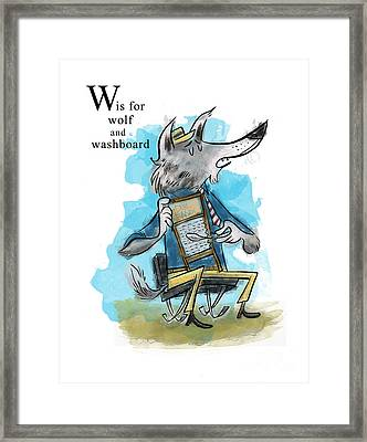 W Is For Wolf Framed Print