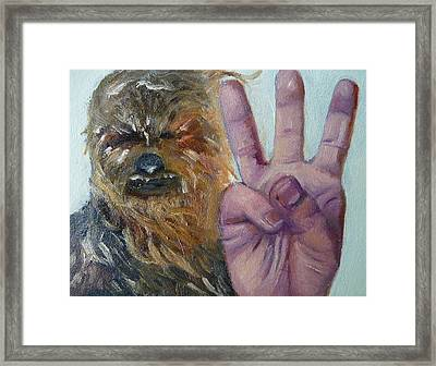 W Is For Wookie Framed Print