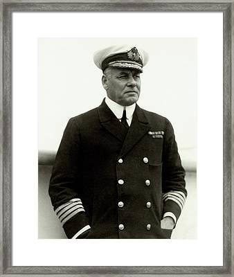 W. R. D. Irvine Wearing A Naval Uniform Framed Print by Dana B. Merrill