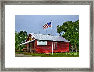 W T Bicker Store White Plains Georgia Framed Print by Reid Callaway