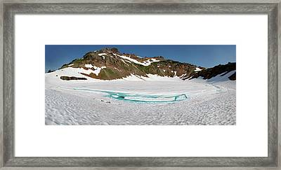 Wa, Goat Rocks Wilderness, Snow And Ice Framed Print