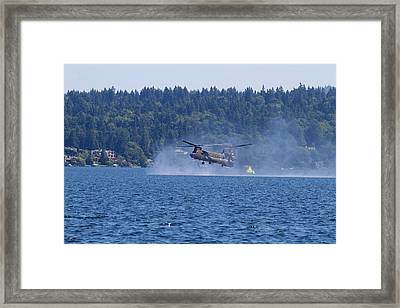 Wa, Seattle, Seafair, Us Army Ch-47 Framed Print by Jamie and Judy Wild