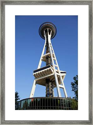 Wa, Seattle, Seattle Center, Space Framed Print by Jamie and Judy Wild