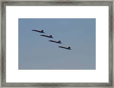 Wa, Seattle, The Blue Angels Framed Print