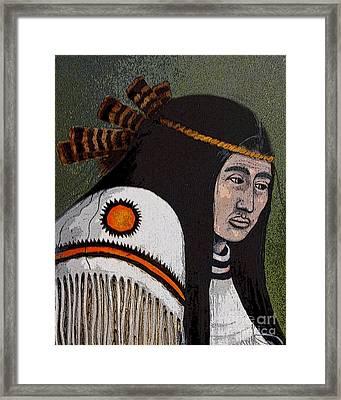 Wabanaki Warrior Framed Print