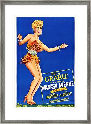 Wabash Avenue, Us Poster Art, Betty Framed Print by Everett