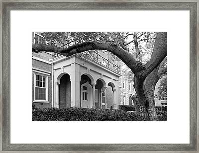 Wabash College Center Hall Framed Print by University Icons