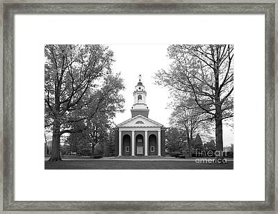 Wabash College Chapel Framed Print by University Icons