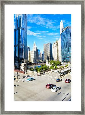 Wacker And State  Framed Print