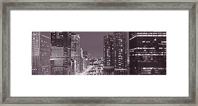 Wacker Drive, River, Chicago, Illinois Framed Print by Panoramic Images