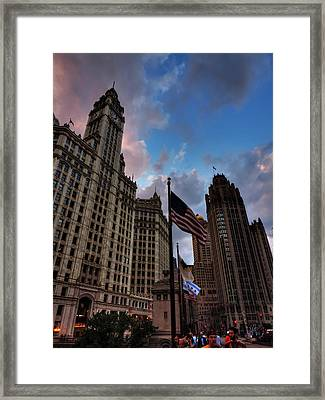 Wacker - Michigan Historic District Of Chicago 001 Framed Print