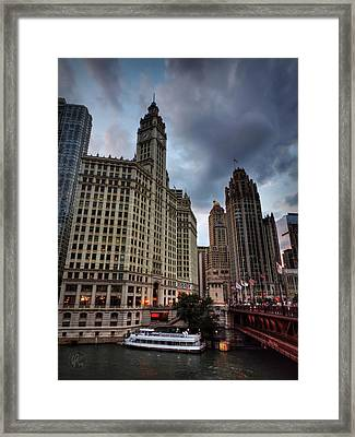 Wacker - Michigan Historic District Of Chicago 002 Framed Print