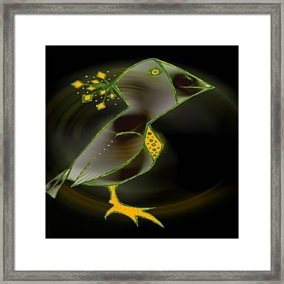 Wacko Bird Framed Print by Josephine Ring