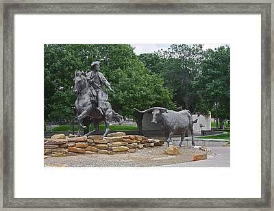 Waco - Branding The Brazos Framed Print by Christine Till
