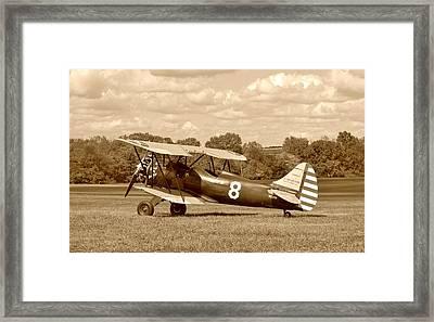 Waco Upf-7 Framed Print by Jean Goodwin Brooks