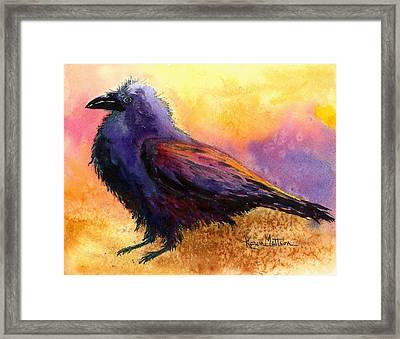 Waddles Framed Print by Karen Mattson