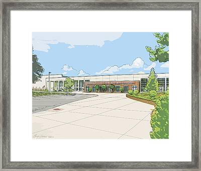 Wade Hampton High School Framed Print by Greg Joens