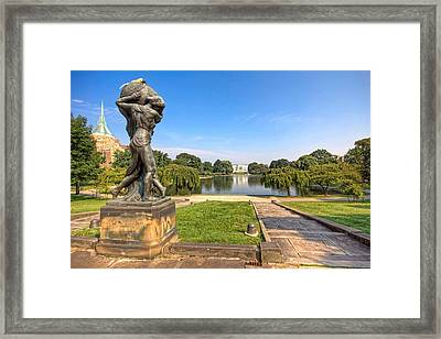 Framed Print featuring the photograph Wade Lagoon by Brent Durken