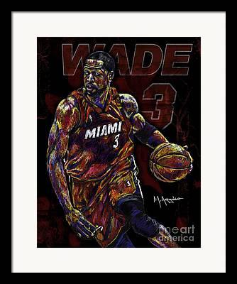Dwyane Wade Mixed Media Framed Prints