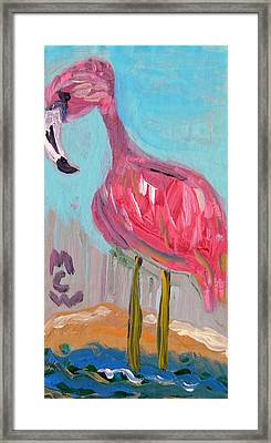 Framed Print featuring the painting Wade Right On In by Mary Carol Williams