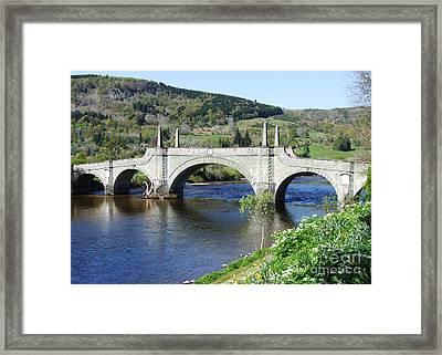 Wades Bridge - Aberfeldy - Scotland Framed Print by Phil Banks