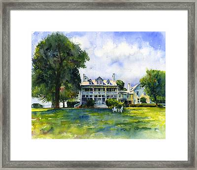 Wades Point Inn Framed Print by John D Benson