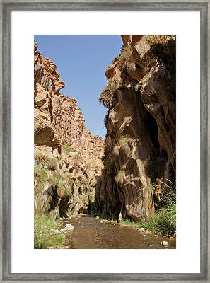 Wadi Hassa Framed Print by Photostock-israel