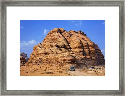 Wadi Rum In Jordan Framed Print by Robert Preston