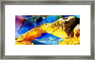 Wadi Rum Natural Arch Framed Print by Catf
