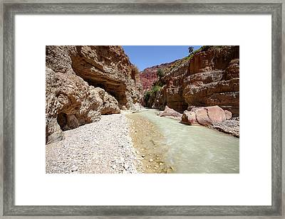 Wadi Zered Framed Print by Photostock-israel