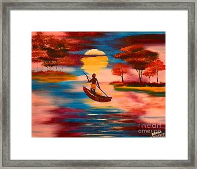 Wading For Magenta Framed Print