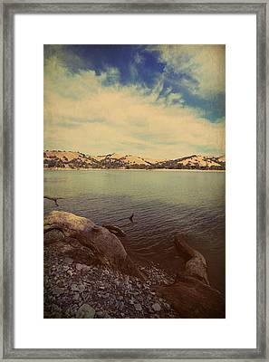 Wading Into The Cold Water Framed Print
