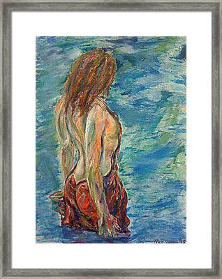 Wading Framed Print by Nick Vogel