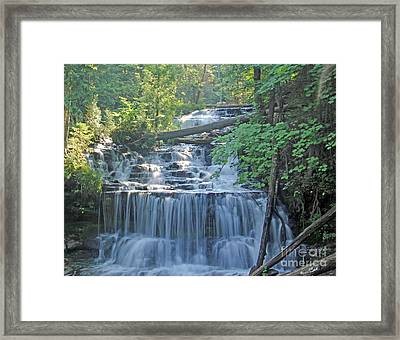Wagner Falls  Soft Water Effect Framed Print