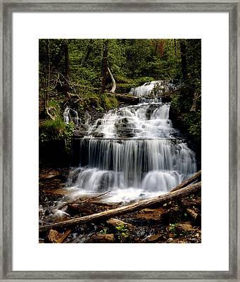 Wagner Falls Framed Print by Tim Hawkins