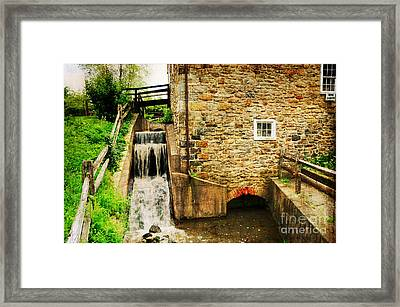 Wagner Grist Mill Framed Print by Paul Ward
