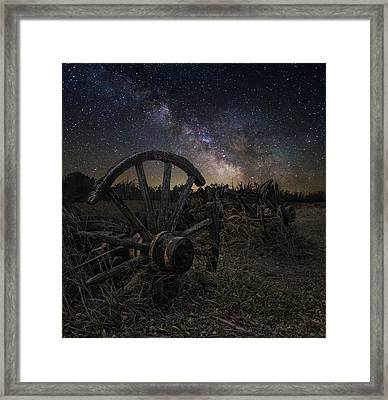 Wagon Decay Framed Print by Aaron J Groen