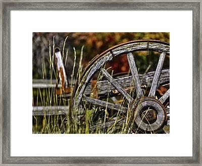 Wagon Down Framed Print