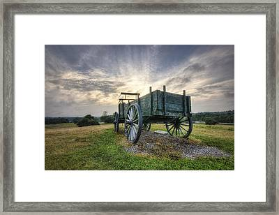 Wagon Hill Framed Print by Eric Gendron