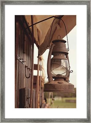 Wagon Lantern Framed Print