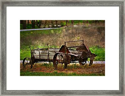 Wagon Framed Print by Marty Koch