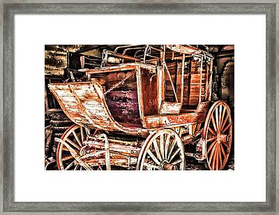 Framed Print featuring the painting Wagon by Muhie Kanawati